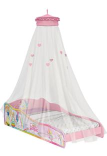 Mini-Cama Barbie Dreamtopia C/Dorsel De Teto Rosa Pura Magia