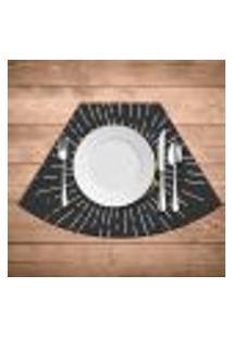 Jogo Americano Para Mesa Redonda Wevans Hambúrguer Kit Com 4 Pçs