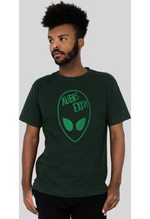 Camiseta 182Life Aliens Exist Musgo