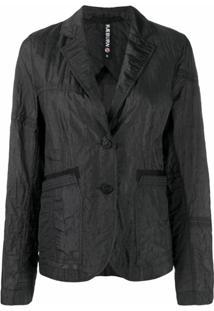 Raeburn Blazer Parasuit Com Abotoamento Simples - Preto