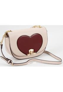 Bolsa Feminina Transversal Coração Chenson