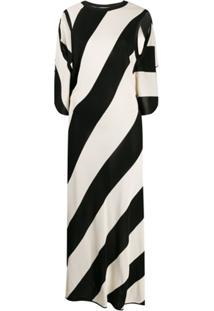 Stella Mccartney Vestido De Tricô Listrado - Preto
