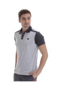 Camisa Polo Fatal Especial 18115 - Masculina - Branco/Cinza Esc