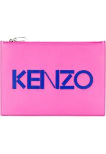 Kenzo Logo Print Pouch - Rosa