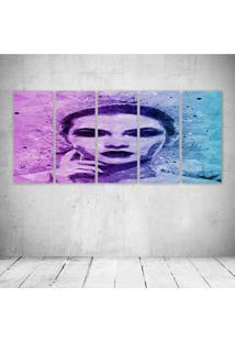 Quadro Decorativo - Woman548 - Composto De 5 Quadros