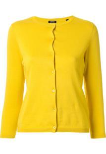 Aspesi Cardigan Slim Fit Cropped - Amarelo