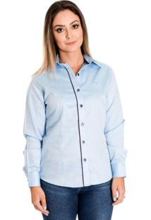 Camisa Pimenta Rosada Marjorie Azul