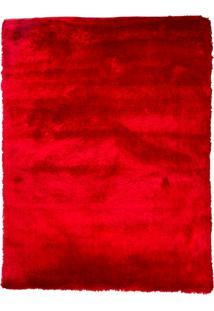 Tapete Peludo Gold Cor 9 Vermelho 2,00X2,50M - Edantex Vermelho