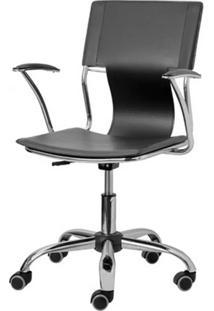 Cadeira Escritorio P-022 Preta Cromada - 4806 Sun House