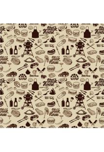 Papel De Parede Adesivo Steak House (0,58M X 2,50M)