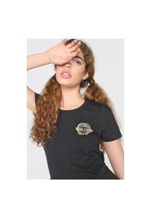 Camiseta Volcom Dial Preta