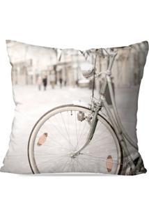Capa De Almofada Avulsa Decorativa Bike Retro