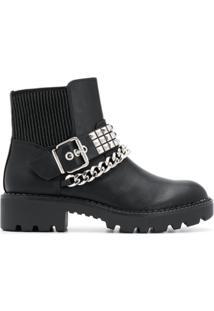 Buffalo Falina Chain Ankle Boots - Preto