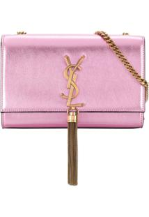 Saint Laurent Bolsa Tiracolo Kate Pequena - Rosa