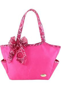 Bolsa Casual Com Bolso Externo Jacki Design Sonho De Veráo Pink - Tricae