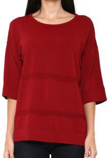 Blusa Finery London Benmore Knitted Vermelha - Vermelho - Feminino - Viscose - Dafiti