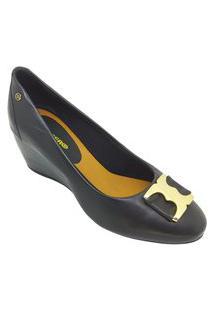 Sapato Feminino Bottero Salto Anabela Preto