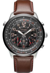 30264c3d2af ... Relógio Vivara Masculino Couro Marrom - Ds13464R0F-1