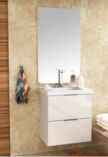 Conjunto Para Banheiro Pietra Branco/Branco Brilho Bosi