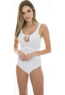 Body Beautifull Hit Tricot Babados Branco