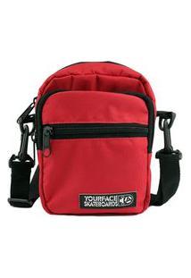 Bolsa Shoulder Bag Your Face Lil I Vermelho Casual Urbano Estilo Poliéster Mini Bolsa Skate