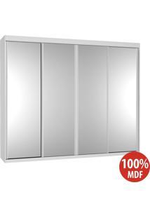 Guarda Roupa 4 Portas De Espelho 100% Mdf 794 Branco - Foscarini