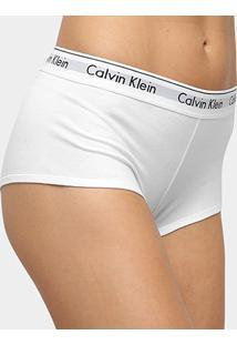 Calcinha Calvin Klein Boyshort Modern Cotton - Feminino-Branco
