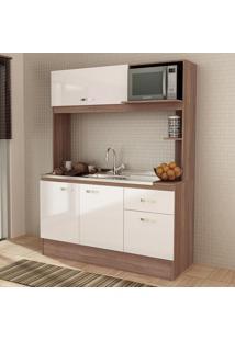 Cozinha Compacta Nina 4 Portas Sem Tampo Teka/Branco - Fellicci