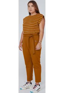Calça De Moletom Carrot Clochard - Marrom