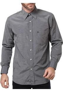 Camisa Manga Longa Masculina Di Marcus Cinza - Masculino