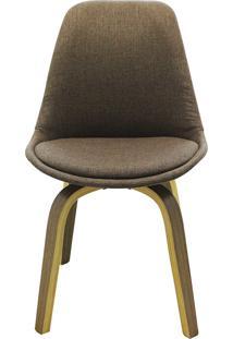 Cadeira Lis Tecido Marrom Rivatti Móveis