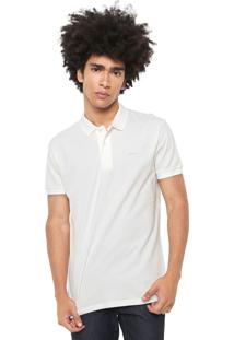 Camisa Polo Colcci Reta Lisa Off-White