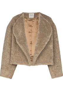 Toteme Bellac Faux Fur Jacket - Cinza