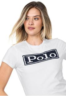 Camiseta Polo Ralph Lauren Reta Branca - Branco - Feminino - Algodã£O - Dafiti