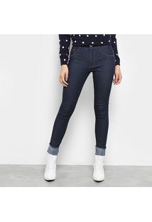 8870910bf ... Calça Jeans Skinny Biotipo Lavagem Escura Cintura Média Feminina -  Feminino