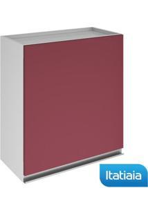 Módulo Cozinha Aéreo Clarice 1 Porta - Ip1-60 - Vermelho - Aço - Itatiaia