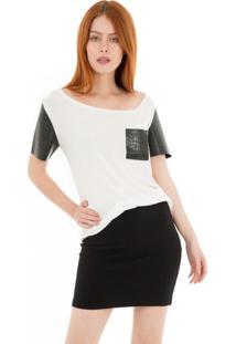 Camiseta Gola Assimã©Trica 41Onze - Branca - Branco - Feminino - Dafiti