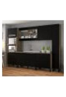 Cozinha Compacta Itamaxi I 11 Pt 4 Gv Preta E Castanho