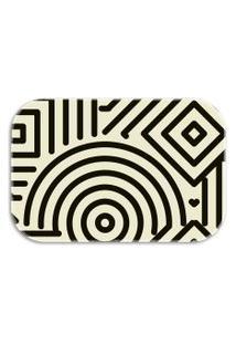 Tapete Decorativo Lar Doce Lar Traços Abstratos 40Cm X 60Cm Off-White
