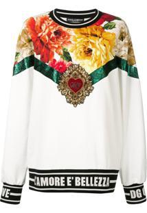 Dolce & Gabbana Suéter Bordado - Branco