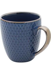 Caneca De Porcelana 400Ml - Bon Gourmet - Azul