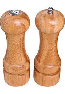 Conjunto Pimenteiro E Saleiro Bamboo - Mor