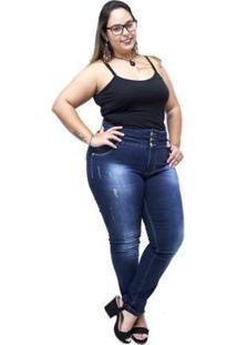 Calça Jeans Credencial Plus Size Skinny Laurete Feminina - Feminino