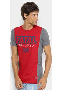 Camiseta Fatal Estampada Recortes Masculina - Masculino