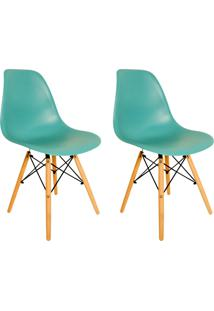 Kit 2 Cadeiras Eiffel Facthus Charles Eames Em Abs Tiffany. - Tricae