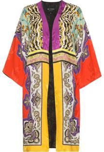 Etro Patch Print Jacquard Kimono - Estampado