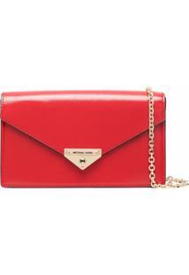 Michael Michael Kors Grace Envelope Clutch Bag - Vermelho