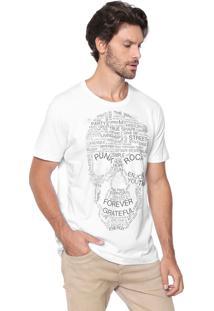 Camiseta Colcci Caveira Branca