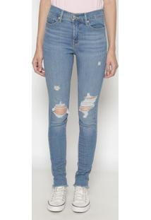 Jeans 310™ Shaping Super Skinny Destroyed- Azullevis