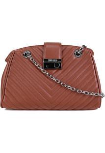 Bolsa Santa Lolla Handbag Mestiço Alça Corrente Feminina - Feminino-Caramelo